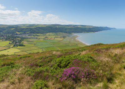 view out to porlock bay